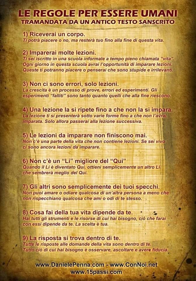 Le regole per essere umani