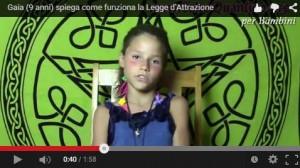 Gaia (9 anni) spiega come funziona la Legge d'Attrazione